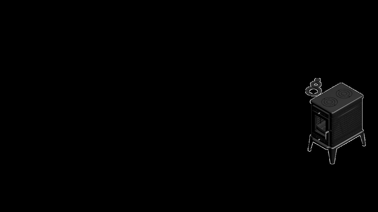 Отдельностоящая печь-камин K10 Ø 130