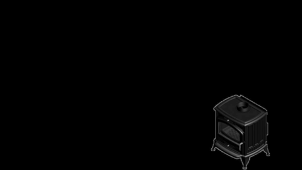 Отдельностоящая печь-камин K6 Ø 130 с турбовентилятором