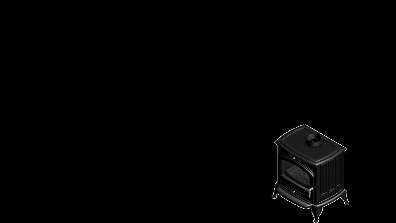 Отдельностоящая печь-камин K6 Ø 130
