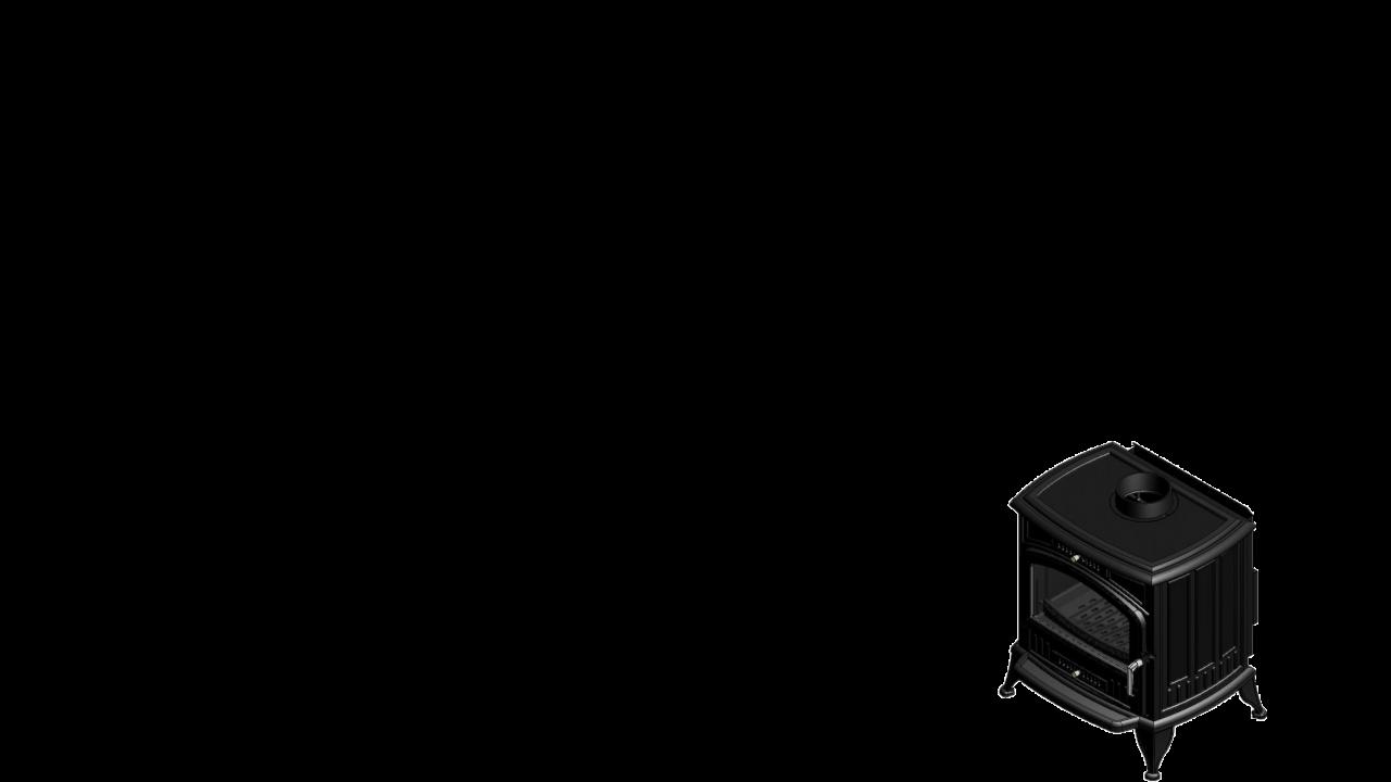 Отдельностоящая печь-камин K6 Ø 150 с турбовентилятором