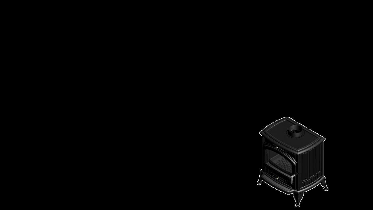 Отдельностоящая печь-камин K6 Ø 150