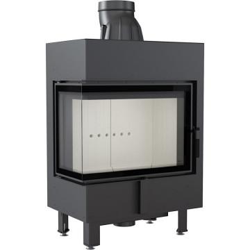 Каминная топка Kratki LUCY/12/L/BS 12 кВт стальная, угловое стекло слева