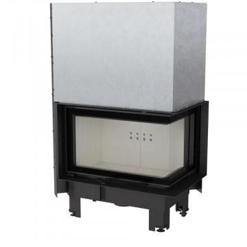 Каминная топка Kratki MBM/P/BS/G/SG 10 кВт стальная, угловое стекло справа, гильотина