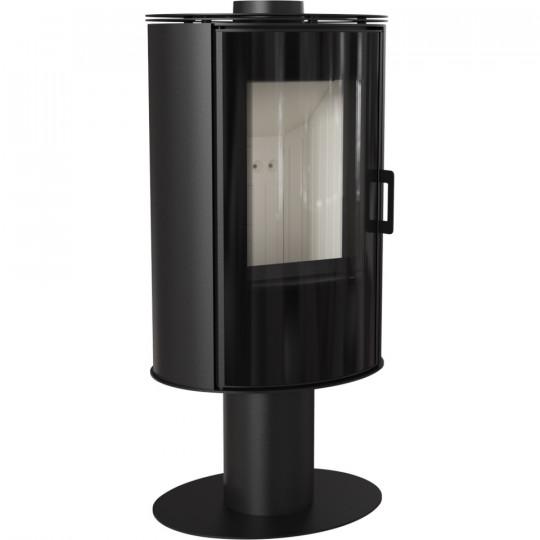 Отдельностоящая печь-камин Kratki Koza AB/S/N/O/GLASS, сталь выпуклое стекло, стеклянная дверка, поворотная