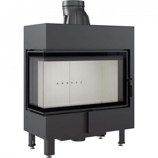 Каминная топка Kratki LUCY/14/L/BS 14 кВт стальная, угловое стекло слева