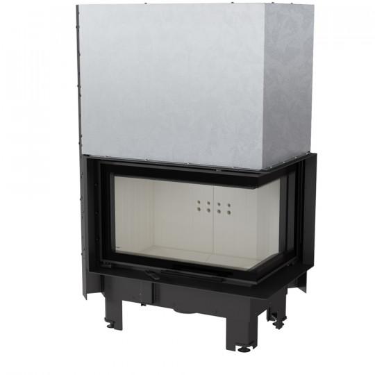 Каминная топка Kratki MBM/P/BS/G 10 кВт стальная, угловое стекло справа, гильотина