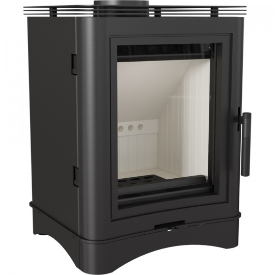 Отдельностоящая печь-камин Kratki KOZA K5/S прямое стекло, сталь