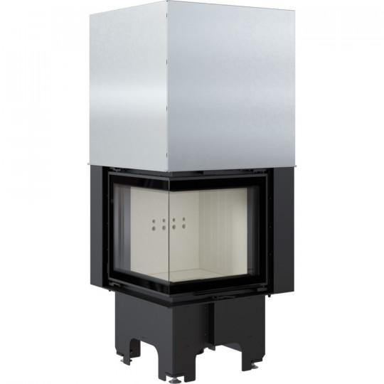Каминная топка Kratki VNL/480/480/L 8 кВт стальная, угловое стекло слева, гильотина