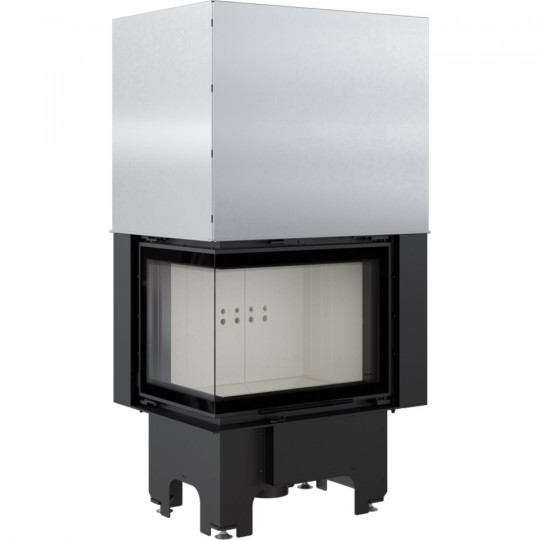Каминная топка Kratki VNL/610/430/L 9 кВт стальная, угловое стекло слева, гильотина